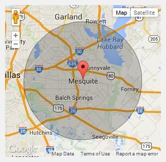 map of mesquite tx about us