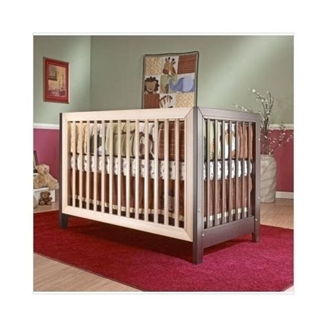 2 Tone Crib by Sorelle City Lights Commuter Convertible Crib In Two Tone