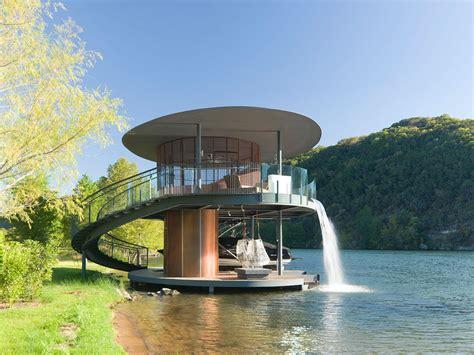 boat a home shore vista boat dock by bercy chen studio architecture