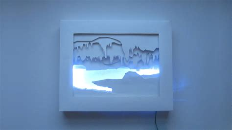 Where Can I Buy Craft Paper - 3d silhouette light box make
