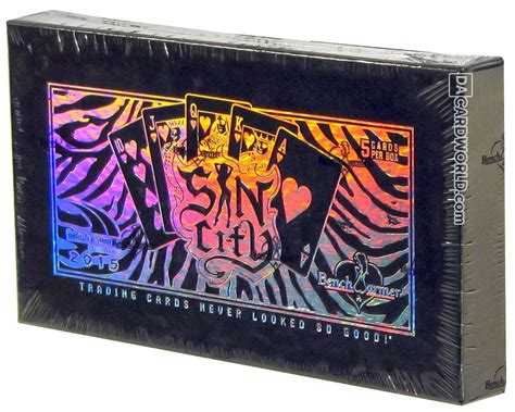 benchwarmer sin city trading cards box 2015 industry