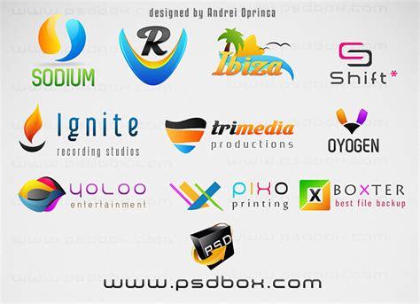 free logo design in psd 10 fresh multi purpose psd logos psd box
