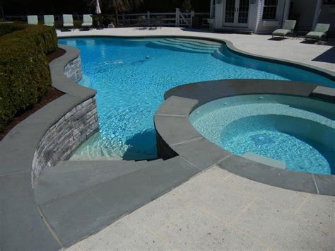 chinese blue stone pool coping drop face pool coping