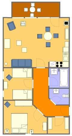 Wohnung 70 Qm Grundriss by Grundriss Der Komfortablen Strandnahen Ferienwohnungen In