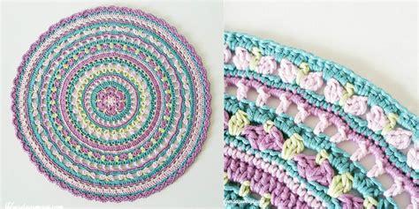 Christmas Throw Rugs by Springtime Crochet Magic Mandala Free Pattern