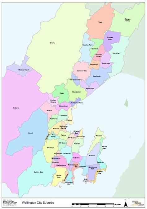 map of suburbs wellington suburbs