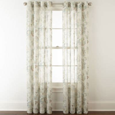 jcpenney home curtains jcpenney home bismarck grommet top sheer curtain panel