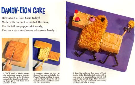 bakers coconut animal cut  cakes booklet  retro musings