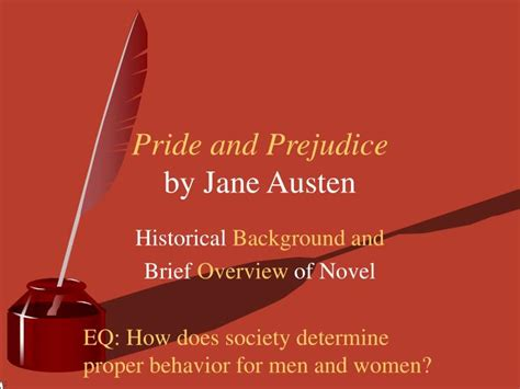 themes of pride and prejudice ppt ppt pride and prejudice by jane austen powerpoint