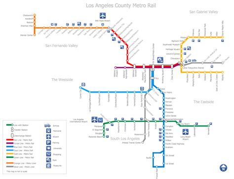 los angeles subway map metro map solution conceptdraw