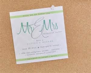 couples shower wedding invite aqua green white onewed