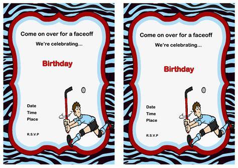 Printable Birthday Invitations Hockey Theme | hockey birthday invitations birthday printable