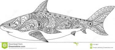 Requin Conception De Sch&233ma Pour Livre Coloriage L Adulte Le  sketch template