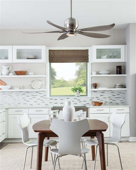 metal ceiling fan with light modern grey metal kitchen ceiling fan with light white