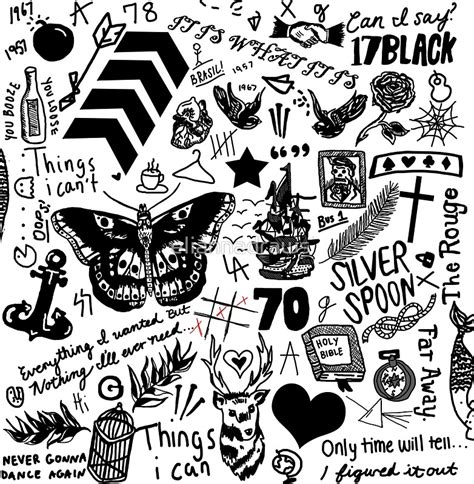 quot 1d tattoos updated 2015 quot stickers by eliannadraws