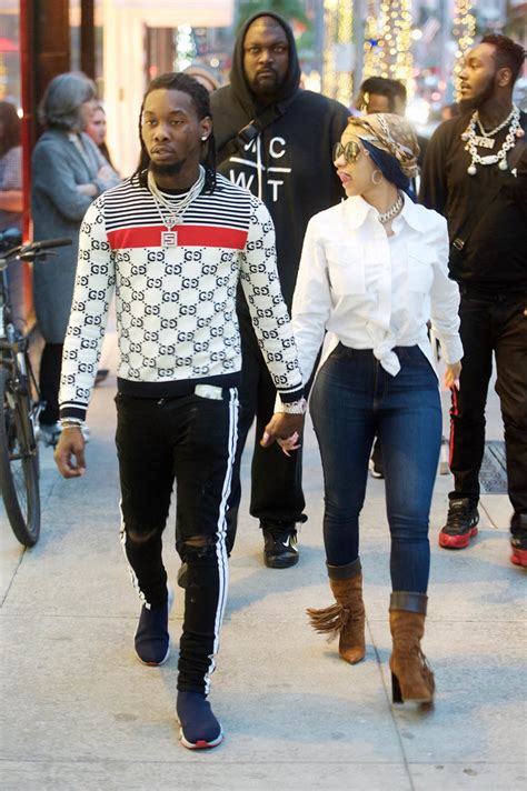 Cardi B And Offset Shop At Mo Ler On Rodeo Drive In
