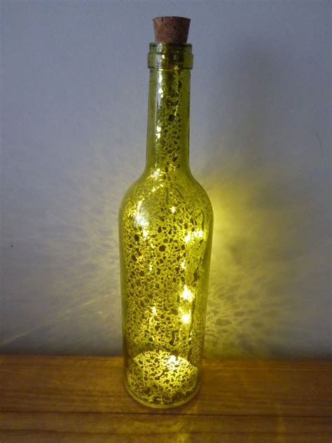 wine bottle battery operated lights battery operated led metallic wine bottle indoor