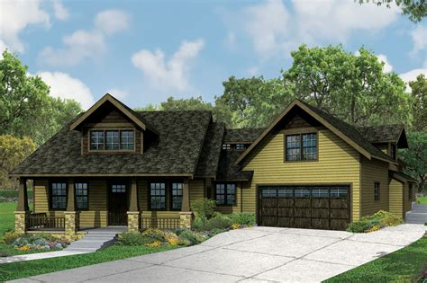 New Craftsman House Plans This New Craftsman Bungalow Is Big On Charm And Features Guest Apartment Associated Designs