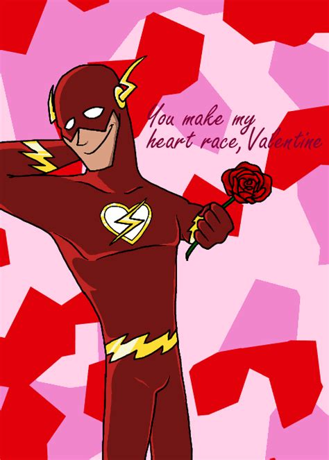 valentines day flash the flash card by elorium