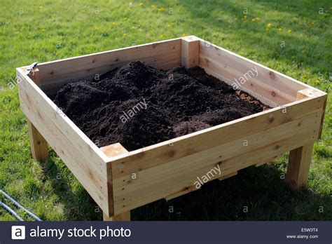 Planter Soil by Square Raised Planter Box With Soil Stock Photo Royalty Free Image 72466580 Alamy