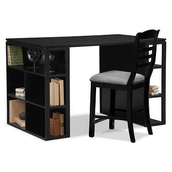 loft home office storage workstation with stool value