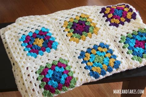 Crochet Square Blankets by Patching Up My Square Blanket Make And Takes
