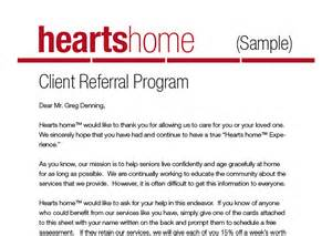 client care letter template how to obtain more client referrals home care pulse