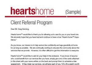 Customer Marketing Letter Client Referral Program Letter Sle Home Care Pulse