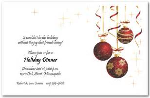 red ornaments and gold starlights holiday invitation