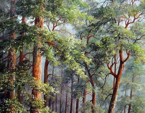 indah pohon pinus lukisan minyak di atas kanvas desain baru lukisan kaligrafi id produk