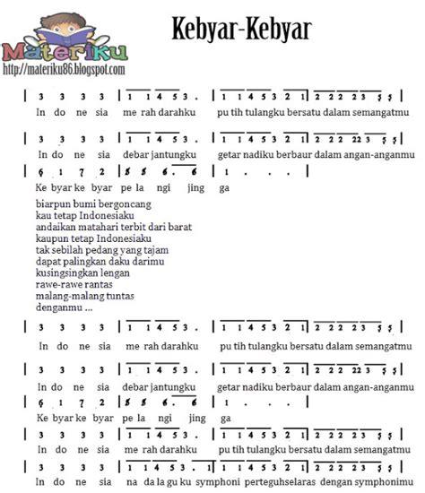 kunci lagu tumhiho pakai pianika kumpulan not angka lagu wajib nasional lengkap materiku