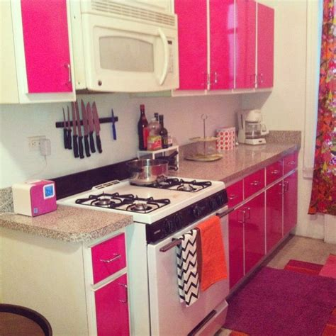 removable contact paper for cabinets pink kitchen an easy diy for a boring apartment