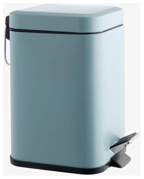 Modern Bathroom Bin Poli Polyresin Sky Blue Stainless Steel Bathroom Bin 3l