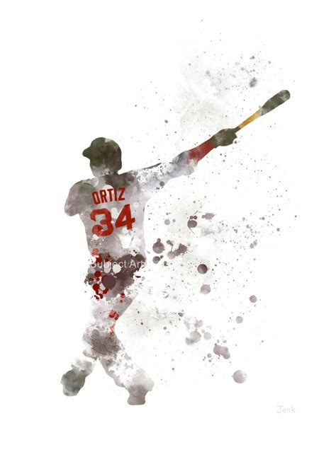 david ortiz tattoos david ortiz print illustration boston sox
