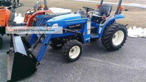 2002 Holland Tc21 Boomer Compact Tractor W Rhino Loader
