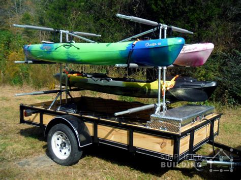 boottrailer bouwen build your own kayak trailer utility trailer conversion