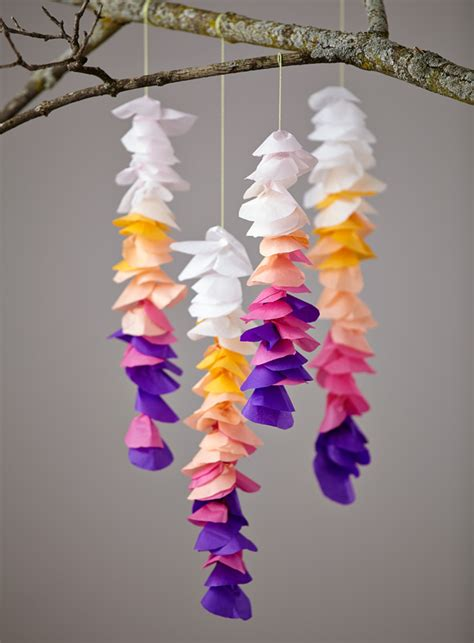 hanging paper craft diy tissue wisteria honest to nod