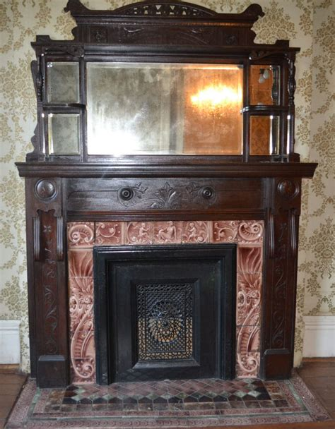 fireplace mantels carved solid wood mantel