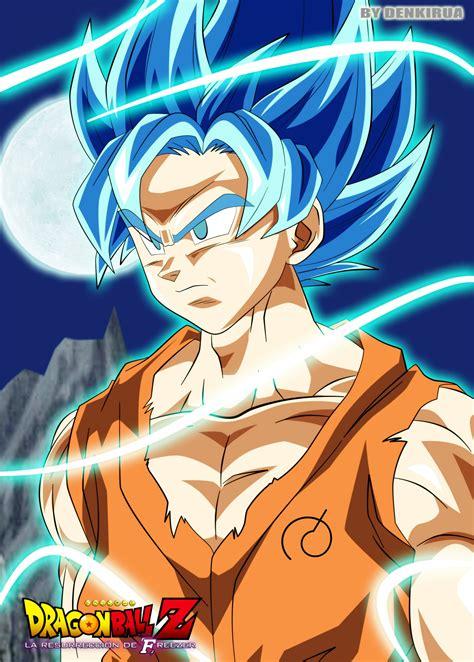 imágenes de goku con el pelo azul goku ssj dios 2 by pipesnowart on deviantart