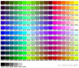 minecraft color guide web safe colors chart practical