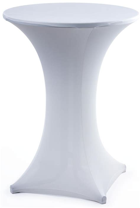 White Covers by White Stretch Bar Table Cover Spandex Tablecloth