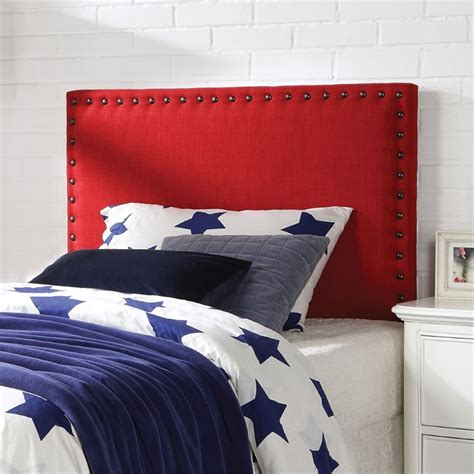 red twin headboard acme furniture sabina linen twin headboard in red 39118