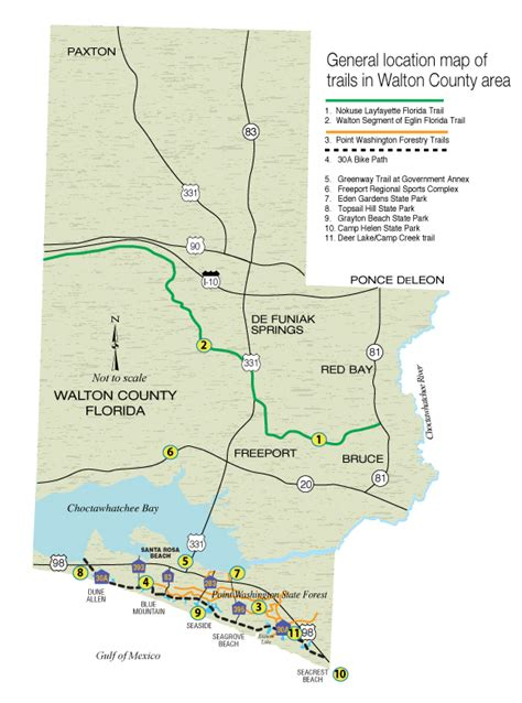 florida trail map hiking the trails in walton county walton outdoors