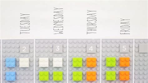 vitamin design lego calendar lego calendar is the niftiest organizer you can find