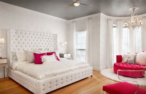girly schlafzimmer modern room contemporary with white headboard