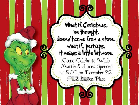Grinch Card Template by Beth Kruse Custom Creations You Re A One Mr Grinch