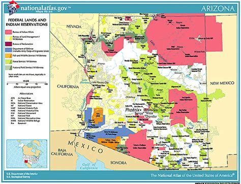 american tribes map arizona printable maps federal lands