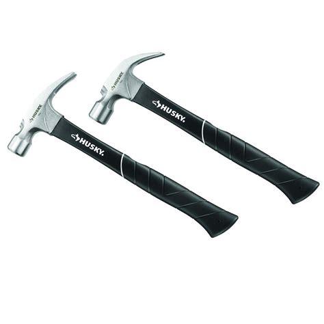 husky 16 oz fiberglass claw plus ripping hammer 2 pack