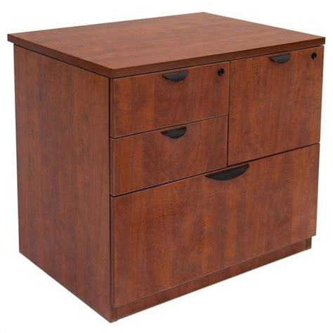 Filing Cabinet File Storage Legacy Lateral Combo in Cherry