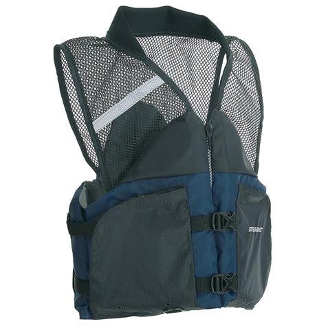 stearns comfort series life vest stearns 174 comfort series collared angler vest 178397